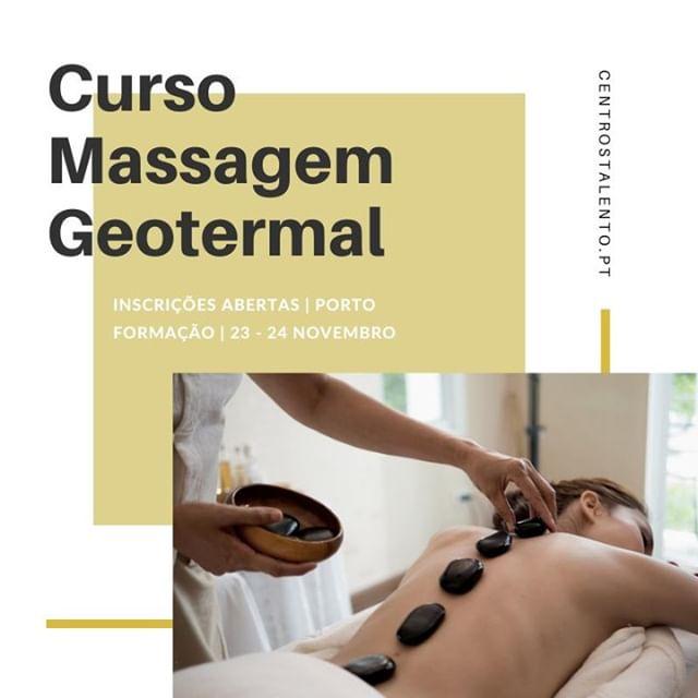 Inscrições abertas para o Curso de Massagem Geotermal Porto