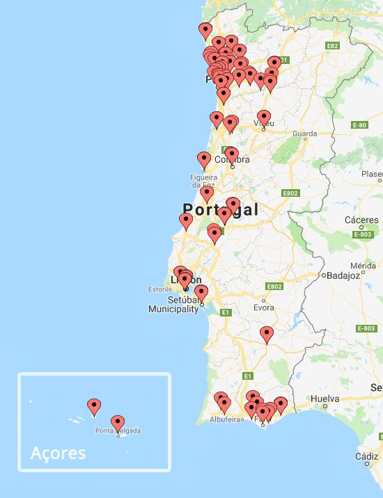 Mais de 50 centros de formação em Portugal Continental e nos Açores